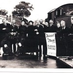 The final whistle: Members of the Liskeard Drama Group perform the last rites for steam on the Liskeard to Looe branch, which ended on 10 September 1961. But a steam train returned nearly half a century later to celebrate the line's 150th anniversary in autumn 2010