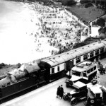 We do like to be beside the seaside: The Cornish Riviera Express arrives at St Ives station on a summer's day in the 1930s. Although Beeching wanted to close it, the line was reprieved and is flourishing again today.