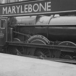 London's last terminus: Great Western Railway 'Hall class' No. 6990 Witherslack Hall at Marylebone in June 1948. This was once the sleepiest of stations where the atmosphere was described as one of 'cloistered calm'.