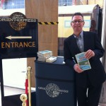 Signing for Orient Express passengers at London's Victoria station