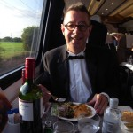 Michael Williams aboard the last dining car car, London to Edinburgh 20 May 2011