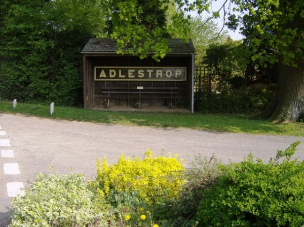 Adlestrop_station_sign_in_the_bus_shelter_-_geograph.org.uk_-_451105